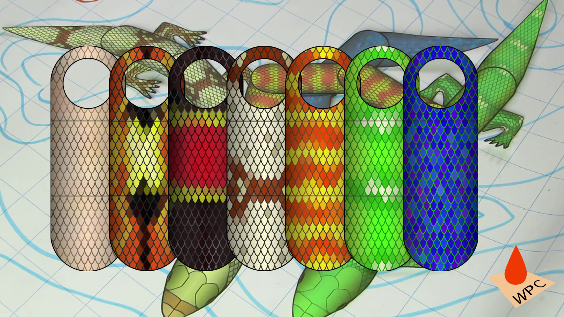 These are the different colors that you will be getting snakes and lizard parts in!